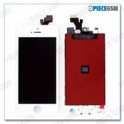 ECRAN LCD + VITRE TACTILE POUR IPHONE 5 Blanc
