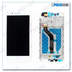 ECRAN LCD + VITRE TACTILE + CHASSIS pour HUAWEI P9 LITE BLANC