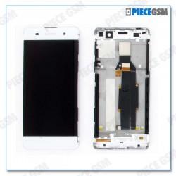 ECRAN LCD + VITRE TACTILE + FRAME pour SONY XPERIA XA BLANC