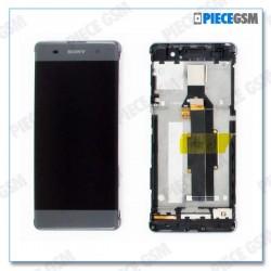 ECRAN LCD + VITRE TACTILE + FRAME pour SONY XPERIA XA GRIS