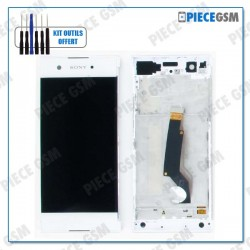 ECRAN LCD + VITRE TACTILE + FRAME pour SONY XPERIA XA1 BLANC