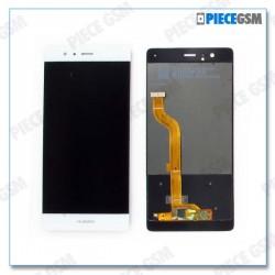 ECRAN LCD + VITRE TACTILE pour HUAWEI P9 blanc