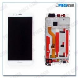 ECRAN LCD + VITRE TACTILE + CHASSIS pour HUAWEI P9 BLANC
