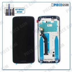ECRAN LCD + VITRE TACTILE + FRAME pour MOTOROLA MOTO G6 PLAY NOIR