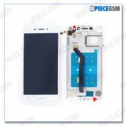 ECRAN LCD + VITRE TACTILE + FRAME pour HUAWEI HONOR 6C PRO BLANC