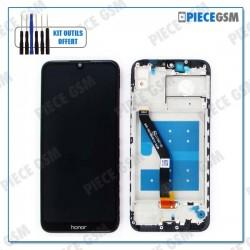 ECRAN LCD + VITRE TACTILE + FRAME pour HUAWEI HONOR 8A NOIR