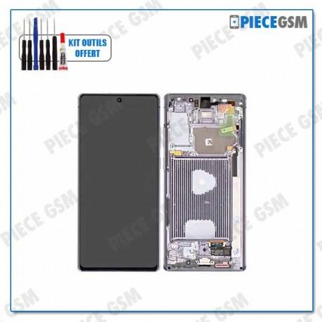 ECRAN LCD + VITRE TACTILE + FRAME pour NOTE 20 N980F GRIS