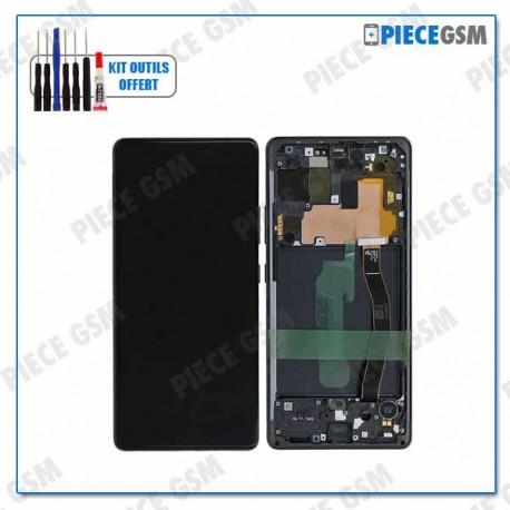 ECRAN LCD + VITRE TACTILE + FRAME pour SAMSUNG S10 LITE G770F NOIR