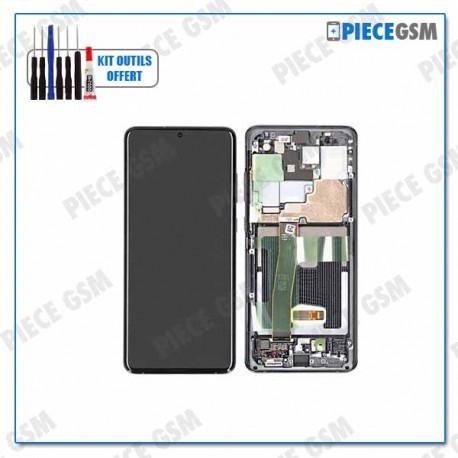 ECRAN LCD + VITRE TACTILE + FRAME pour SAMSUNG S20 ULTRA G988F NOIR