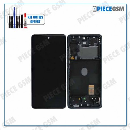 ECRAN LCD + VITRE TACTILE + FRAME pour SAMSUNG S20FE 5G G781B BLEU