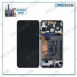 ECRAN LCD + VITRE TACTILE + FRAME + BATTERIE pour HUAWEI P30 LITE NOIR - SERVICE PACK