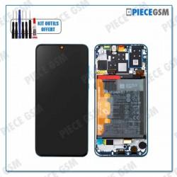ECRAN LCD + VITRE TACTILE + FRAME + BATTERIE pour HUAWEI P30 LITE BLEU - SERVICE PACK